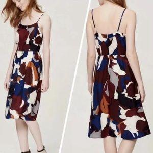 Ann Taylor Painterly Midi Dress